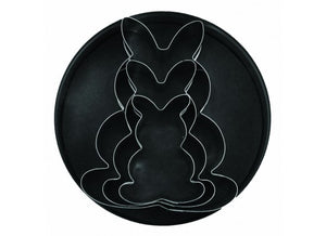 3PC Rabbit Cutter Tin Set