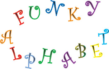 FMM Funky Alphabet and Number Cutter Set - 4cm Upper Case