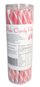 Candy Pole Single Stick - Pink - Strawberry Flavour