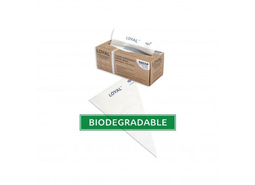 100pk Loyal Disposable Biodegradable Clear Piping Bags - 12