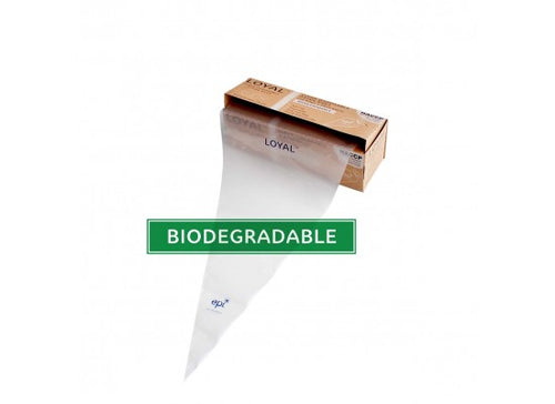 100pk Loyal Disposable Biodegradable Clear Piping Bags - 18