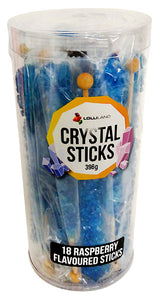 Crystal Stick Rock Candy Single - Royal Blue - Raspberry