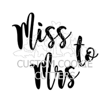 Custom Cookie Cutters Embosser - Miss to Mrs