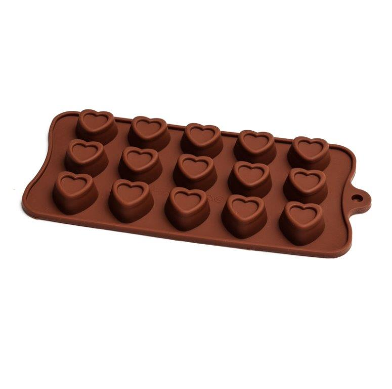 Silicone Chocolate Mould - Embossed Heart