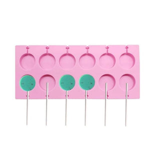 Silicone Mould - Lollipop 12 Cavity