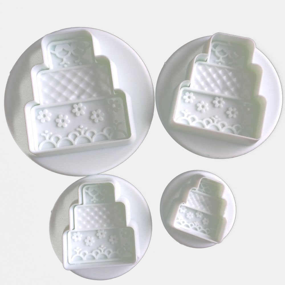 4PC Mini Cake Plunger Cutter Set