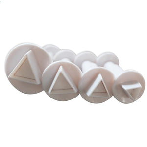 4PC Triangle Plunger Cutter Set