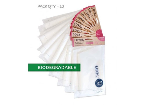 10pk Loyal Disposable Biodegradable Piping Bag - 12inch (30cm)