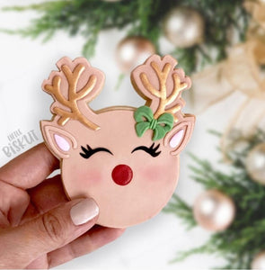 Little Biskut Reindeer Stamp and Cutter Set