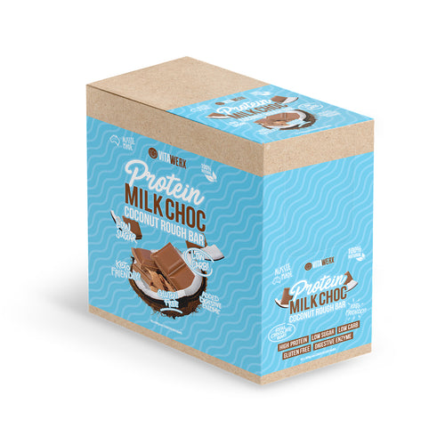 100g Vitawerx Chocolate Bar - Milk Chocolate Coconut Rough