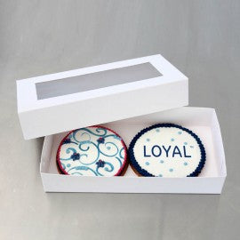 "Loyal White Biscuit Box - 9"" (22.5cm) x 4.5"" (11.5cm) x 1.5"" (4cm)"