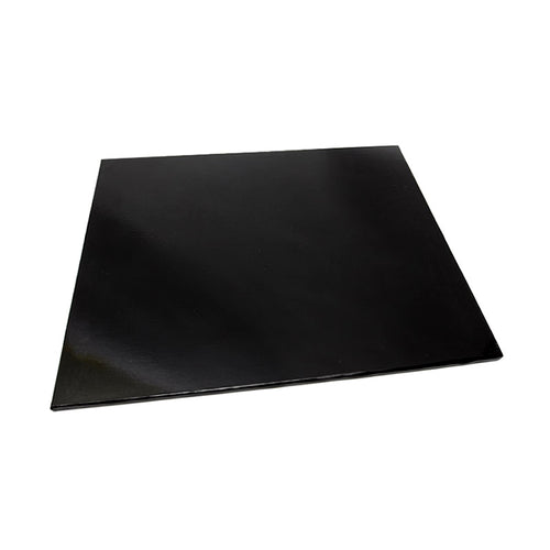 10inch (25cm) Square 5mm Cake Board - Black