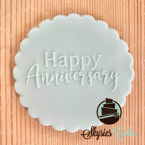 Debosser Stamp - Happy Anniversary