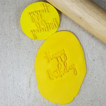 Custom Cookie Cutters Embosser - Happy Birthday V2