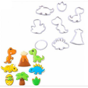 8PC Dinosaur Cutter Set