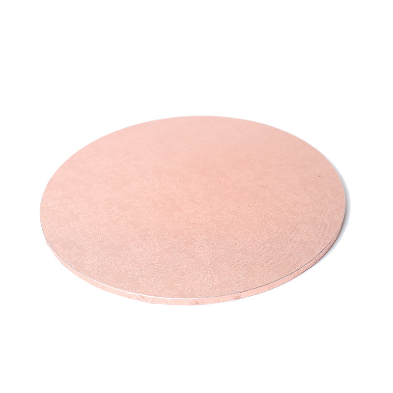 8inch (20cm) Round 5mm Cake Board - Rose Gold