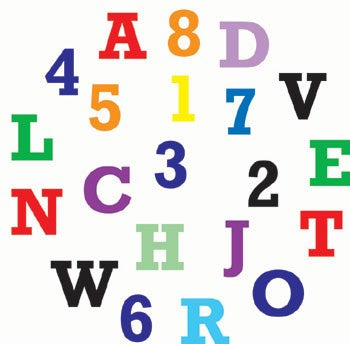 FMM Alphabet and Number Set - Upper Case