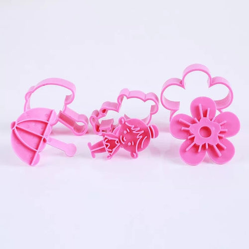 3PC Cutter and Embosser Set - Flower, Umbrella, Girl