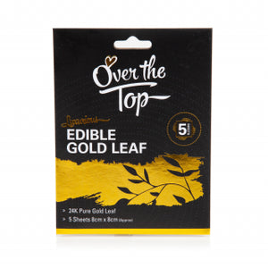 5PK Over The Edible Top Gold Leaf
