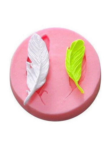 Silicone Mould - 2 x Mini Feathers
