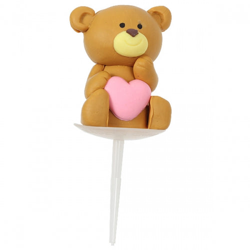 Claydough Topper - Love Heart Teddy Bear