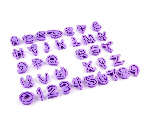 Disney / Magical Alphabet and Number Cutter Set - 36 Piece