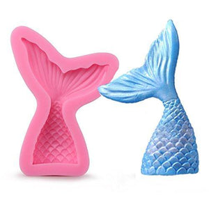 Silicone Mould - Mermaid Tail Large