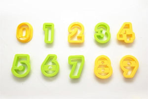 Basic Plastic Number Set - 10pc