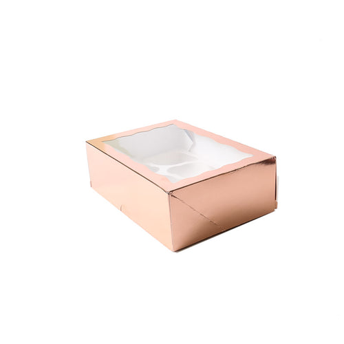 Rose Gold Cupcake Box - 6 Hole