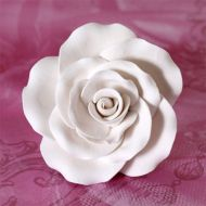 Sugar Flower - Garden Rose 7cm - White