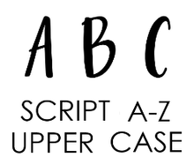 Script V2 Embosser Set - Upper Case