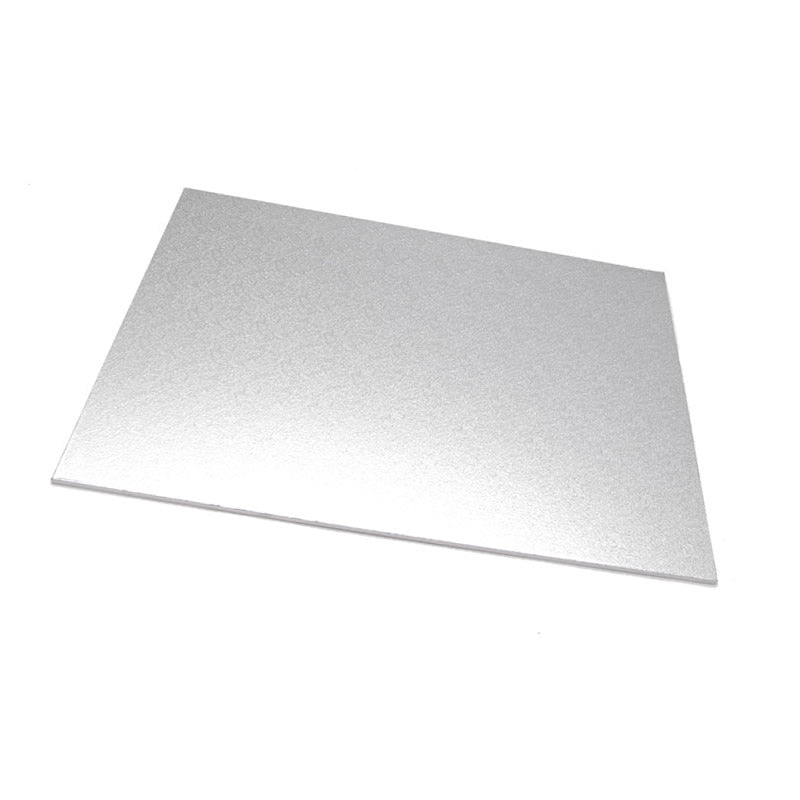 14inch x 18inch (35 x 45) Rectangle 5mm Cake Board - Silver