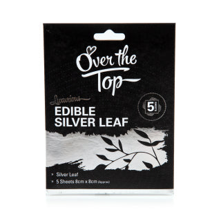 5PK Over The Top Edible Silver Leaf