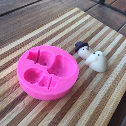 Silicone Mould - 2PC Snowman