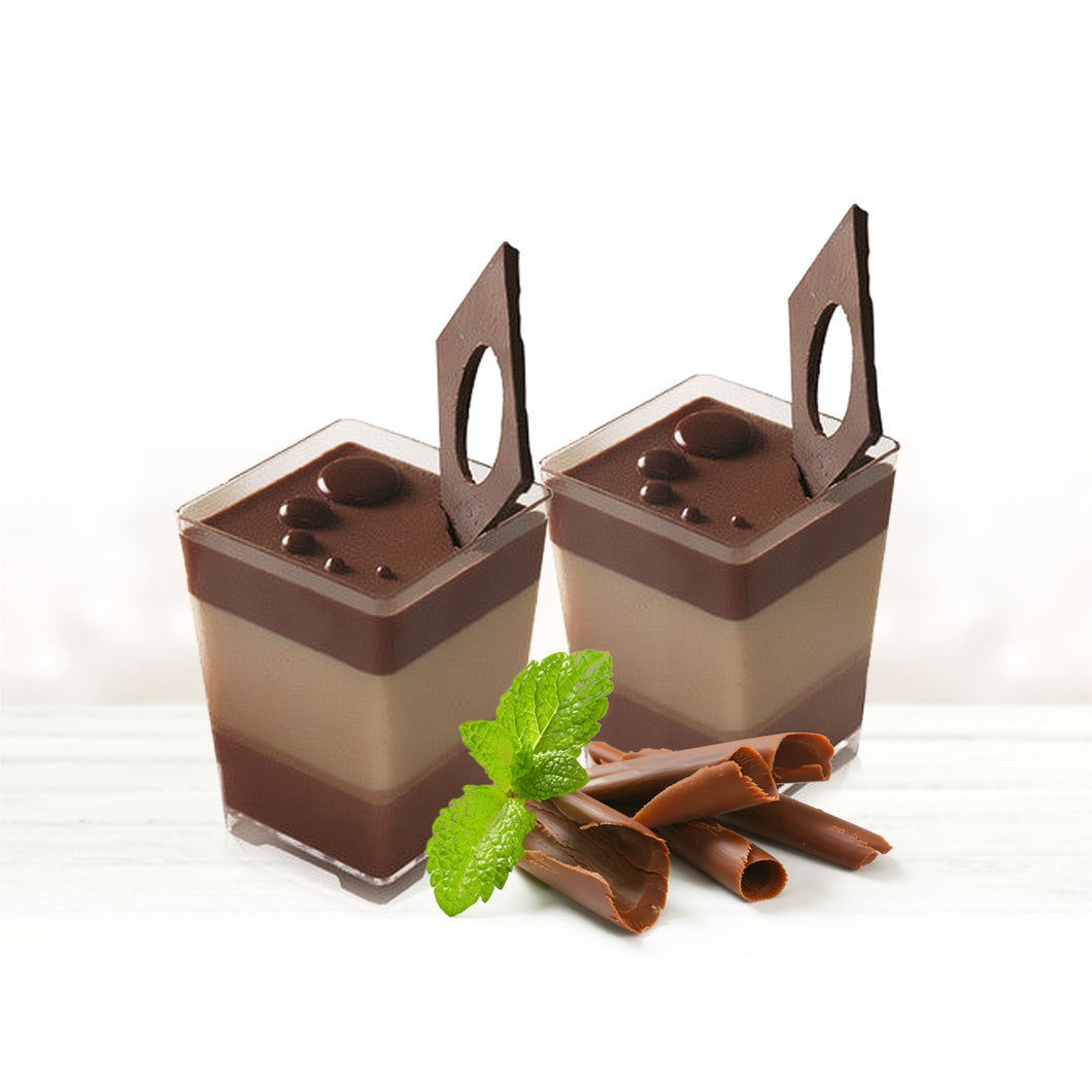 50pk Dessert Cups - Square 60ml