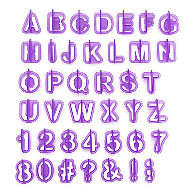40PC Alphabet and Number Tab Cutter Set