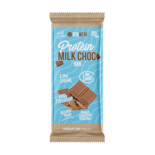 100g Vitawerx Chocolate Bar - Milk Chocolate