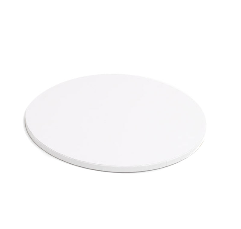8inch (20cm) Round Drum Cake Board - White