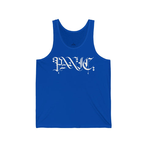Scribed Logo Mens Classic Tank Top - White Print - concreteaddicts