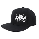The Black Tag Logo Snapback Hat - concreteaddicts