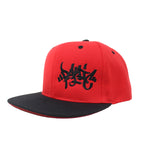 The Red/Black Tag Logo Snapback Hat - concreteaddicts