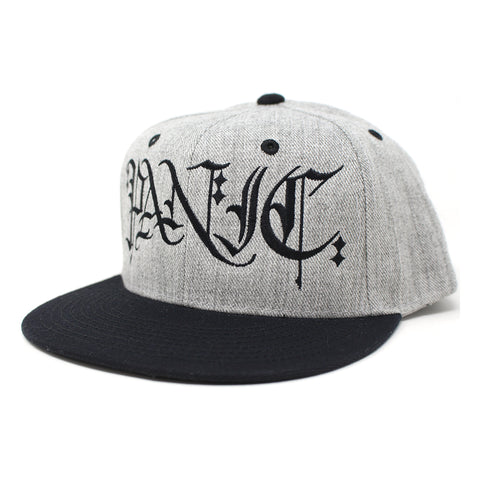 The Heather Gray/Black Scribed Snapback Hat - concreteaddicts
