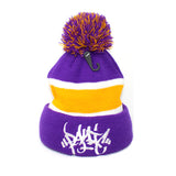 Panic 39 The Pom Striped Tag Beanie - concreteaddicts