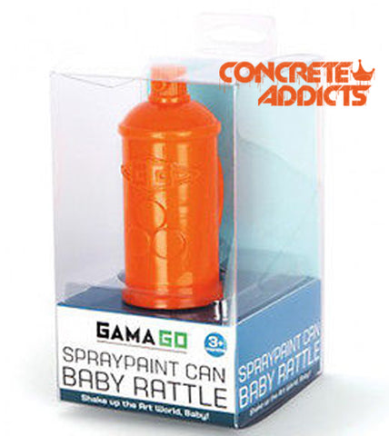 GamaGo The Spraypaint Baby Rattle - concreteaddicts