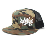 The Army Camo Mesh Tag Snapback Hat - concreteaddicts