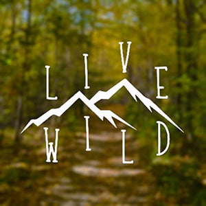 Live Wild Decal