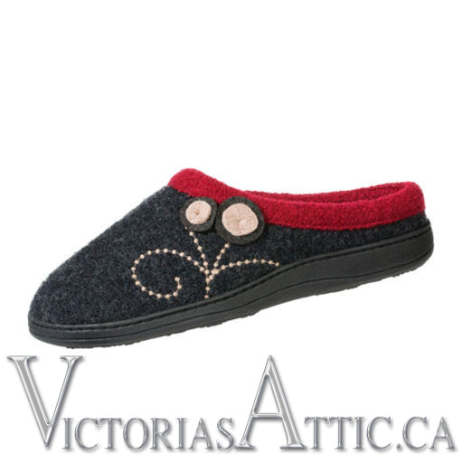 Acorn Boiled Wool Dara Slipper