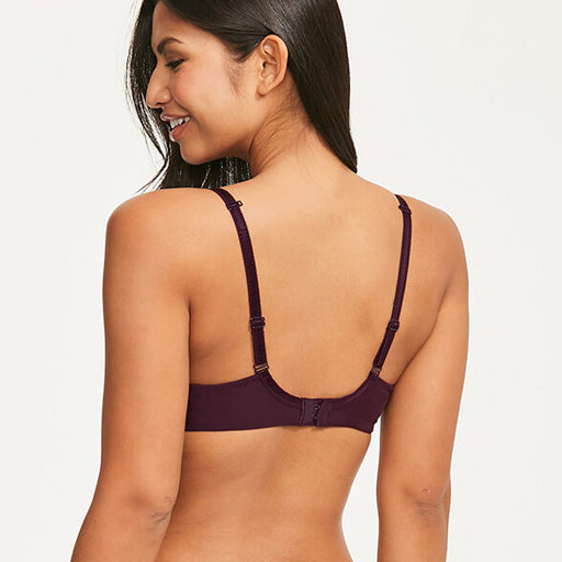 Chantelle Allure 4 Part Plunge Bra Eggplant