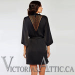 ICollection  3/4 Sleeve Satin & Mesh Robe