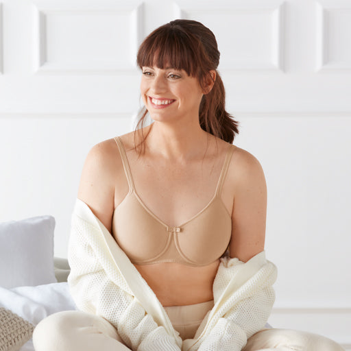 Amoena Lara Cotton Moulded Pocketed Wireless Bra